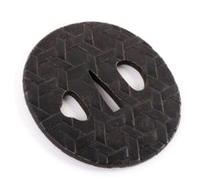 Iron Tsuba Decorated with Geometrical Design - Never Mounted