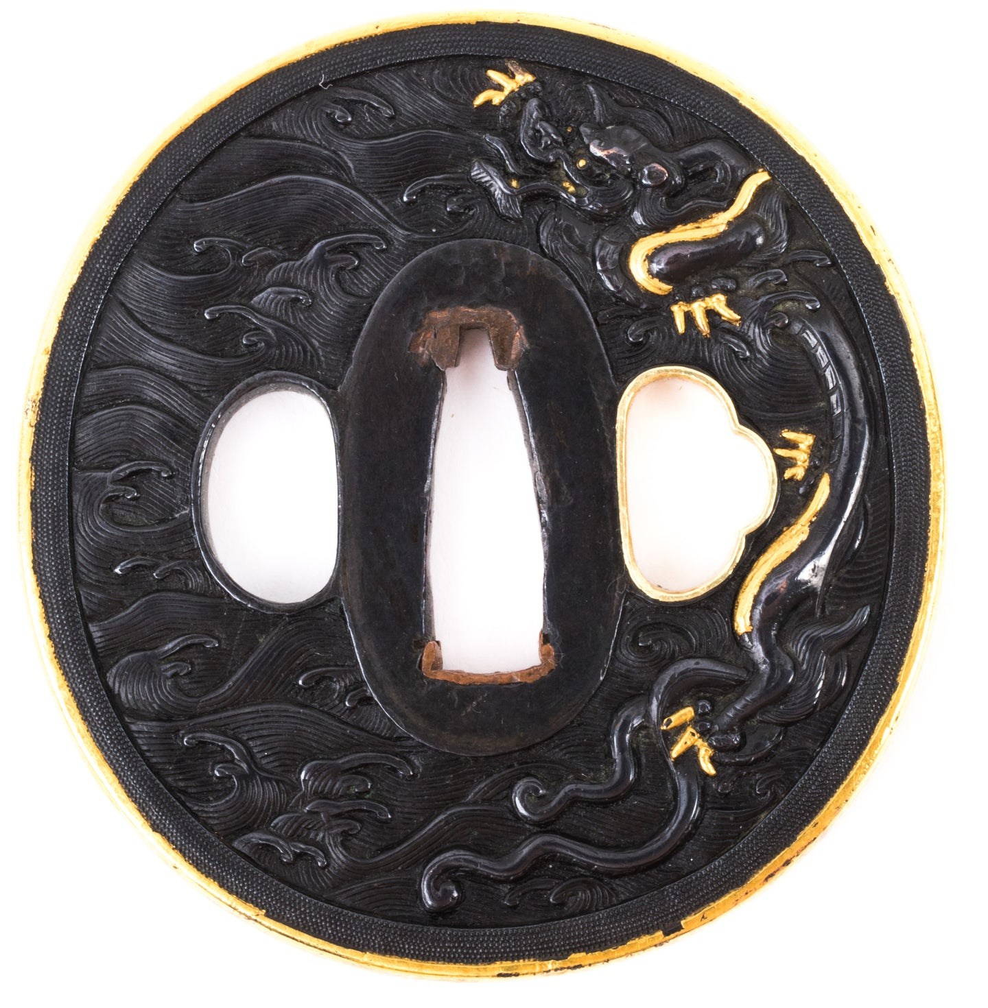Kyoto Kinko Tsuba with NBTHK Hozon Tosogu - Dragons