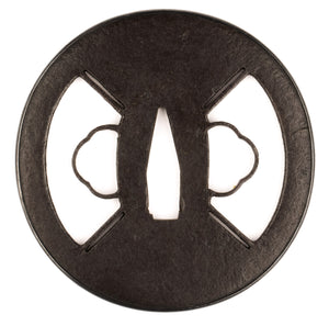 Iron Sukashi Tsuba with NBTHK Hozon - Schoami School