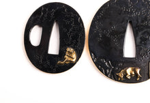 Soft Metal Daisho Tsuba Set - Gilded Elements