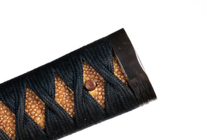 Katana Tsuka Decorated with Wolf and Moon - 21,5 cm