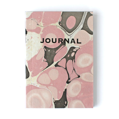 Pink & Brown Marble Journal MAR016 - Pack of 4 - Sukie Wholesale