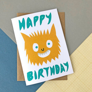 CARD036 MONSTER BIRTHDAY CREATURE Card - Pack of 6 - Sukie Wholesale