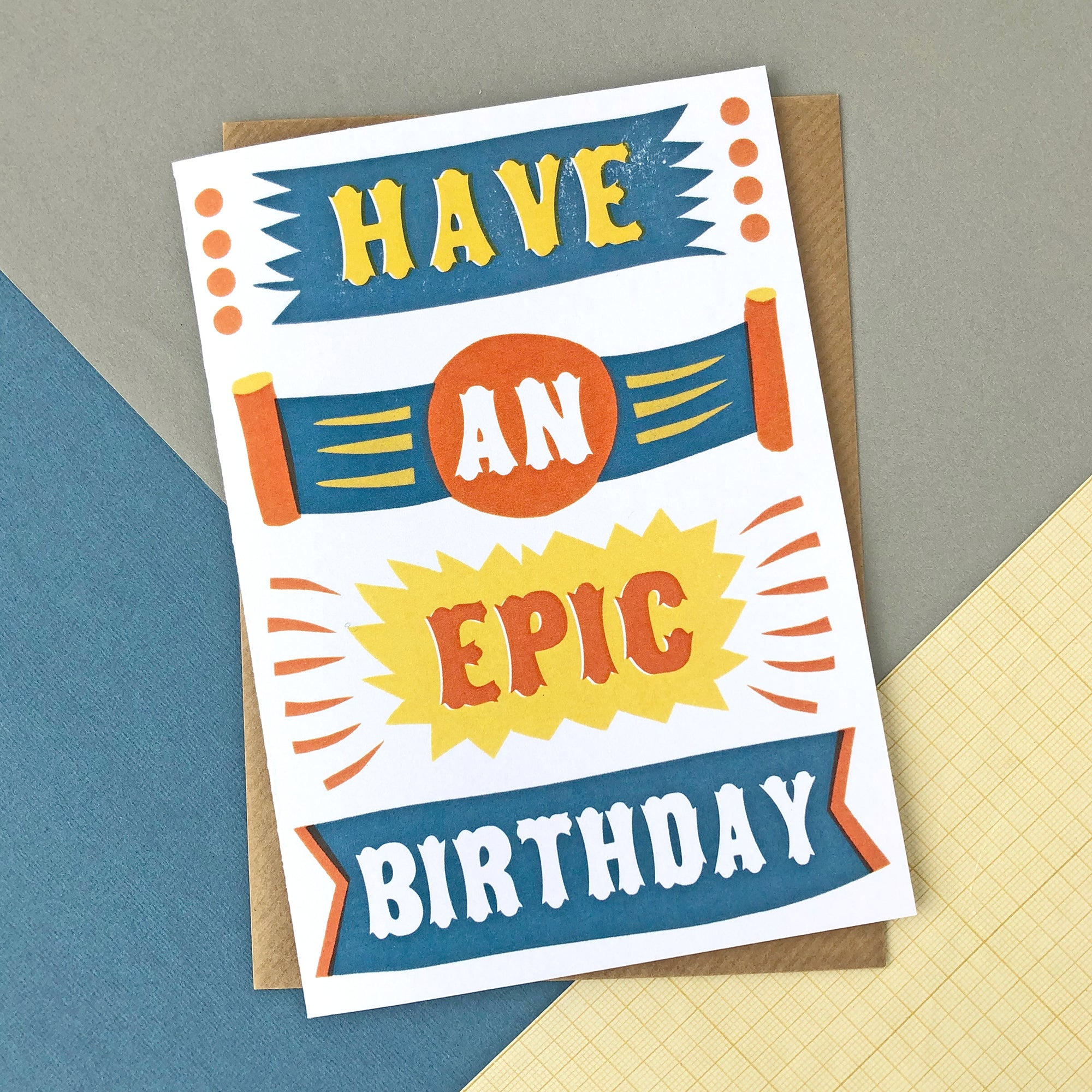 CARD040 EPIC BIRTHDAY BANNER Card - Pack of 6 - Sukie Wholesale