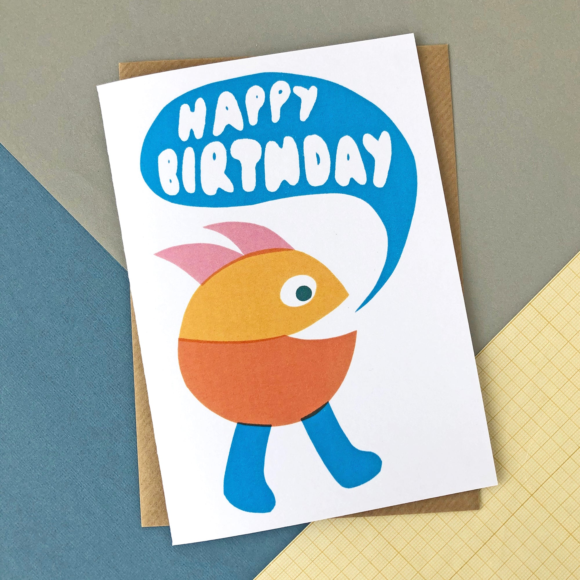 CARD041 HAPPY BIRTHDAY MUNCH MAN Card - Pack of 6 - Sukie Wholesale