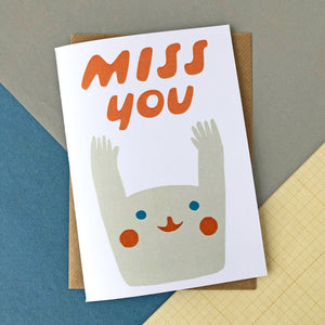 CARD042 MISS YOU Card - Pack of 6 - Sukie Wholesale