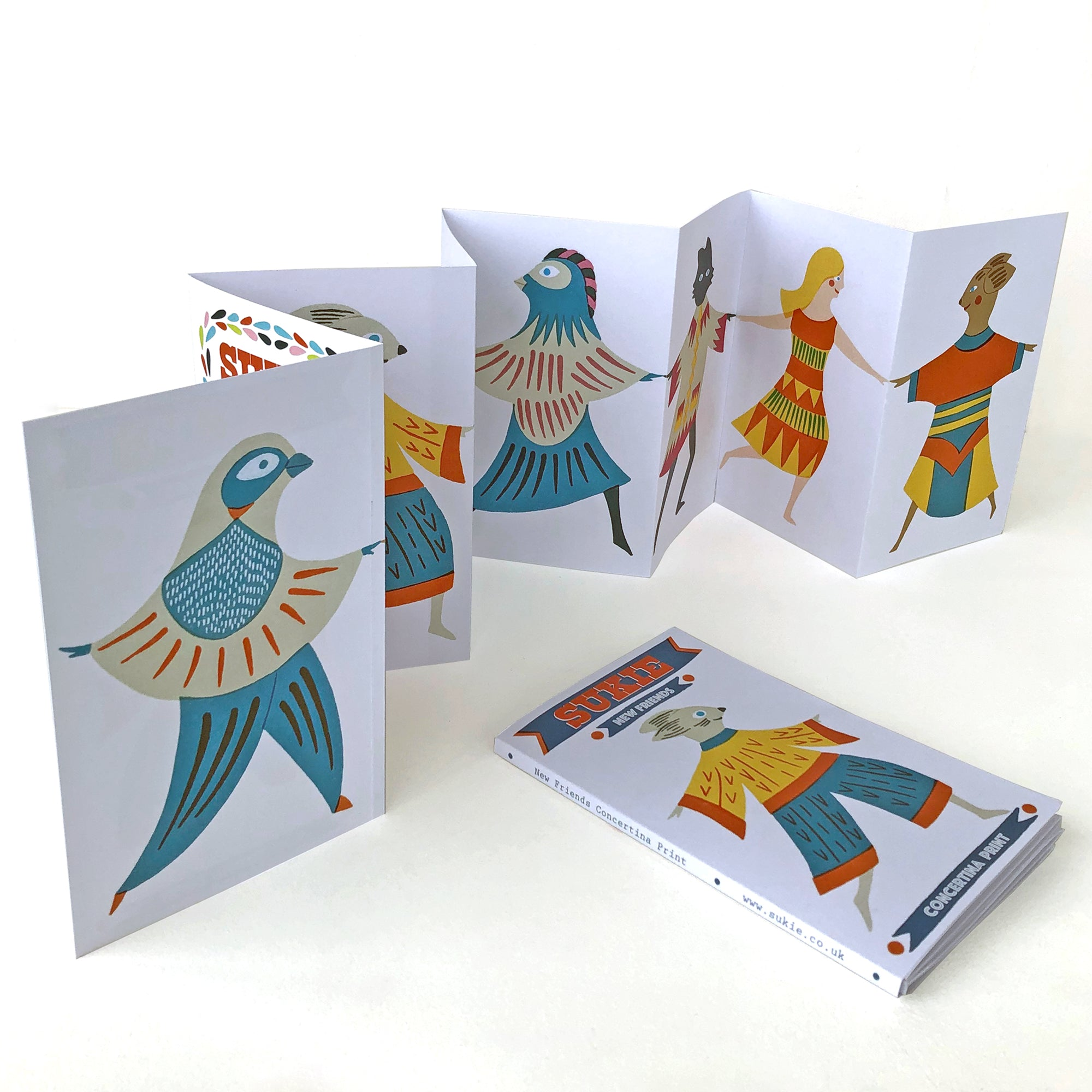 New Friends Concertina Print CP002 - Pack of 4 - Sukie Wholesale