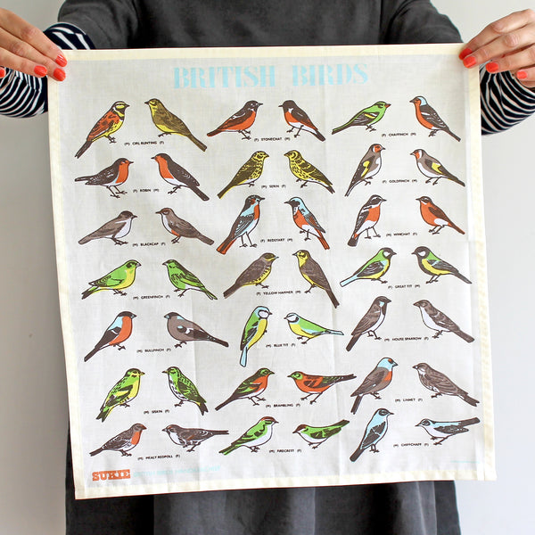 British Birds Handkerchief - Pack of 4 - Sukie Wholesale