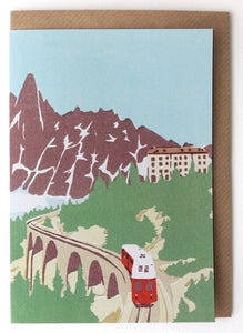 CARD006 Mountain Rail Card - Pack of 6 - Sukie Wholesale