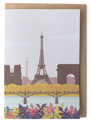 CARD007 Paris Card - Pack of 6 - Sukie Wholesale