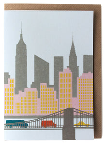 CARD009 New York Card - Pack of 6 - Sukie Wholesale