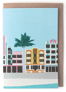 CARD002 Miami Deco Card - Pack of 6 - Sukie Wholesale
