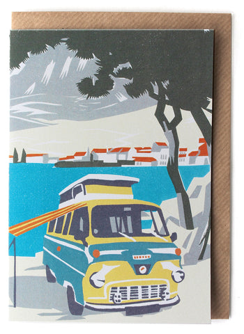 CARD001 Beach Camper Card - Pack of 6 - Sukie Wholesale