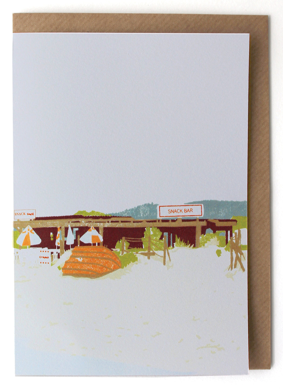 CARD011 Beach Shack Card - Pack of 6 - Sukie Wholesale
