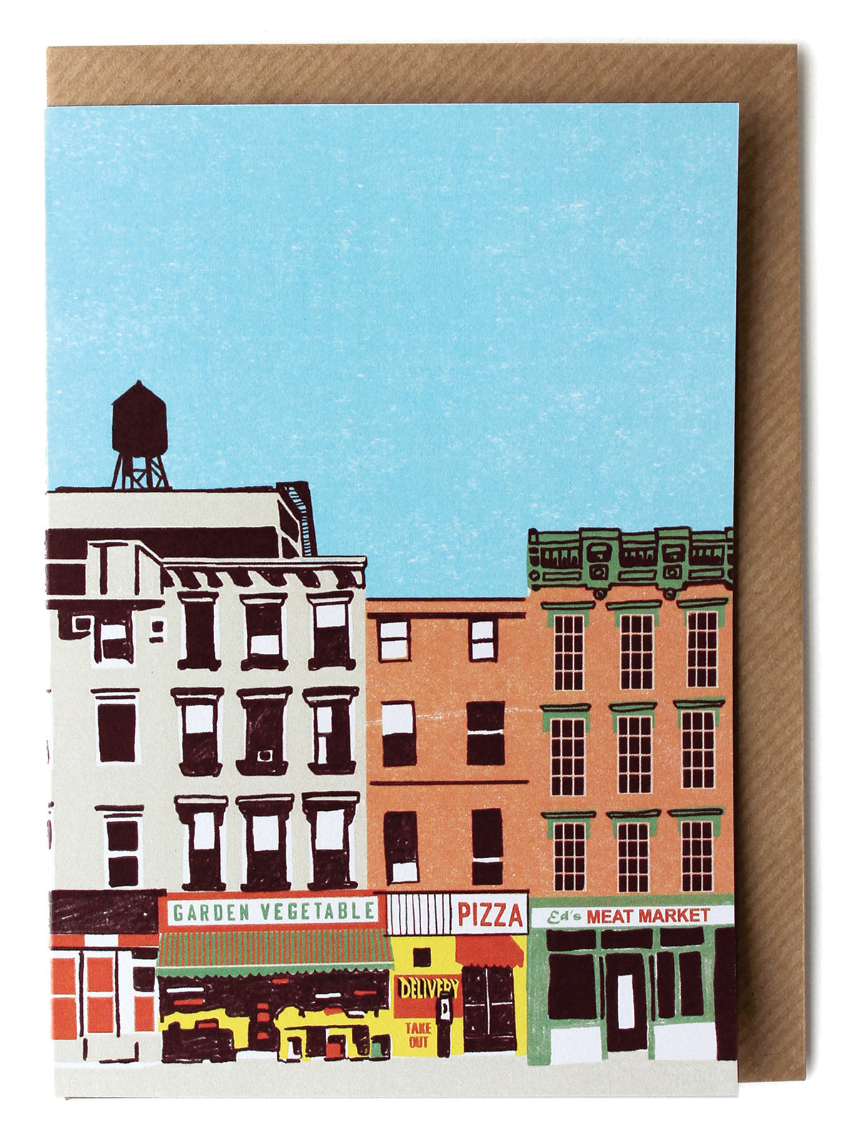 CARD012 Downtown Card - Pack of 6 - Sukie Wholesale