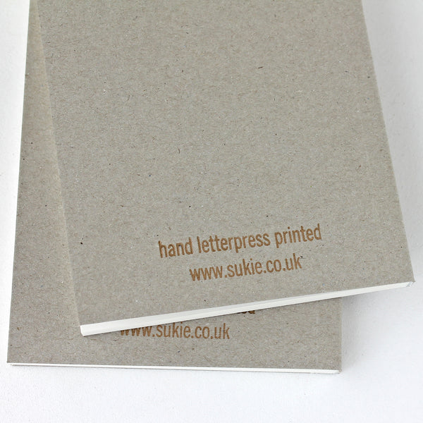 LETTERPRESS BRIGHT IDEAS V047 Notebook - Pack of 4 - Sukie Wholesale