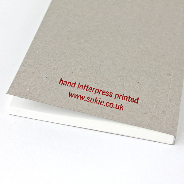 Plan A LETTERPRESS V035 Notebook - Pack of 4 - Sukie Wholesale