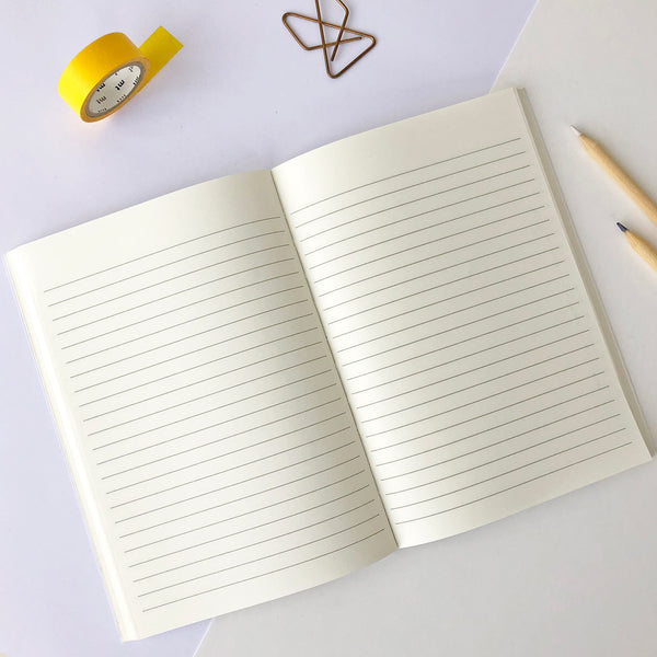 LETTERPRESS NEW LEAF NOTE BOOK V046 Notebook - Pack of 4 - Sukie Wholesale