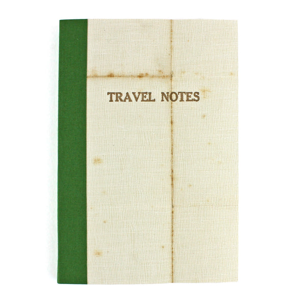 Linen Map Travel Notes in Green - Pack of 4 - Sukie Wholesale