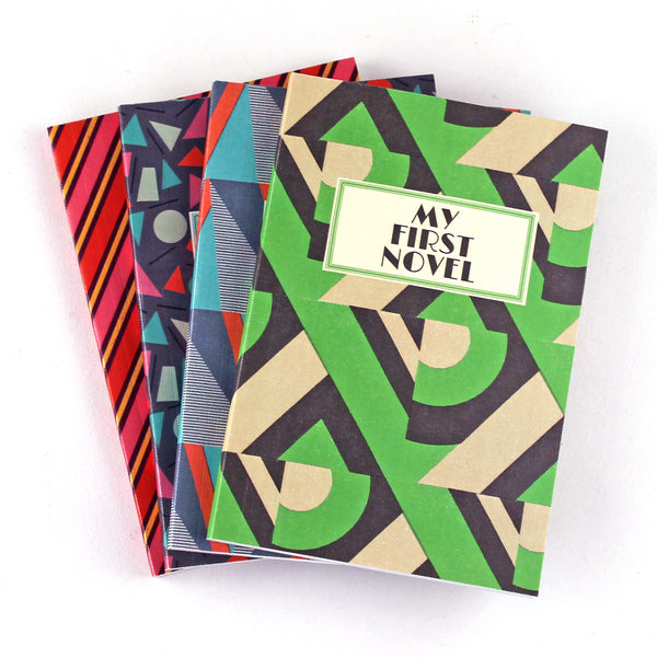 My First Novel Notebook SUK033 (Green Deco)- Pack of 4 - Sukie Wholesale
