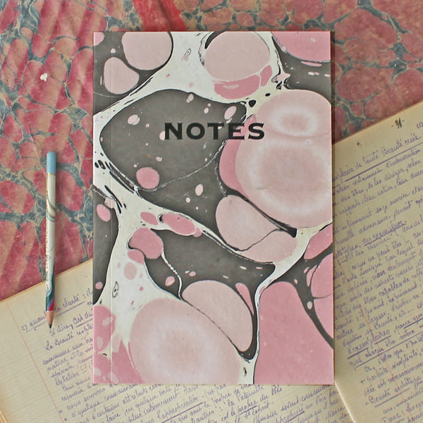 Marbled Notebook MAR009- Pink & Brown Pack of 4 - Sukie Wholesale