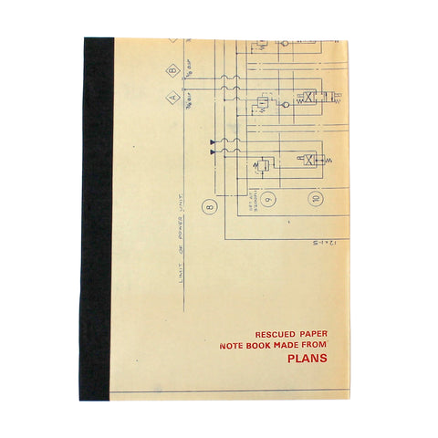 Rescued Notebook Plans Large - Assorted pack of 4 - Sukie Wholesale