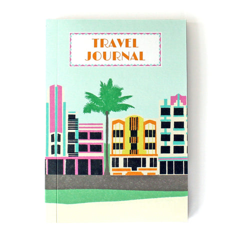 Travel Journal 'Miami Deco' - Pack of 4 - Sukie Wholesale