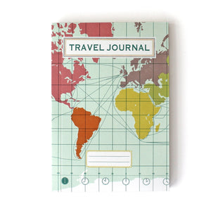 Travel Journal 'Work Map Light Blue' - Pack of 4 - Sukie Wholesale