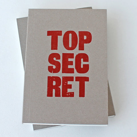 LETTERPRESS TOP SECRET V050 Notebook - Pack of 4 - Sukie Wholesale