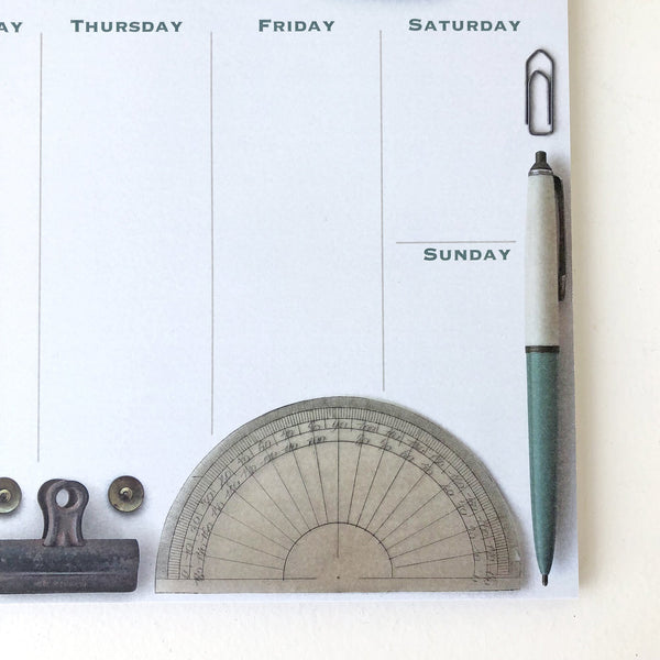 Weekly Desk Planner - Vintage Stationery Pack of 4 - Sukie Wholesale
