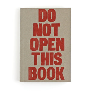 LETTERPRESS Do Not Open This Book V034 Notebook - Pack of 4 - Sukie Wholesale