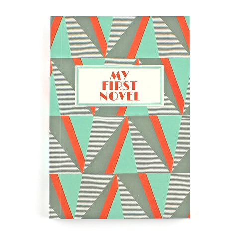 My First Novel Notebook SUK034 (Geometric)- Pack of 4 - Sukie Wholesale