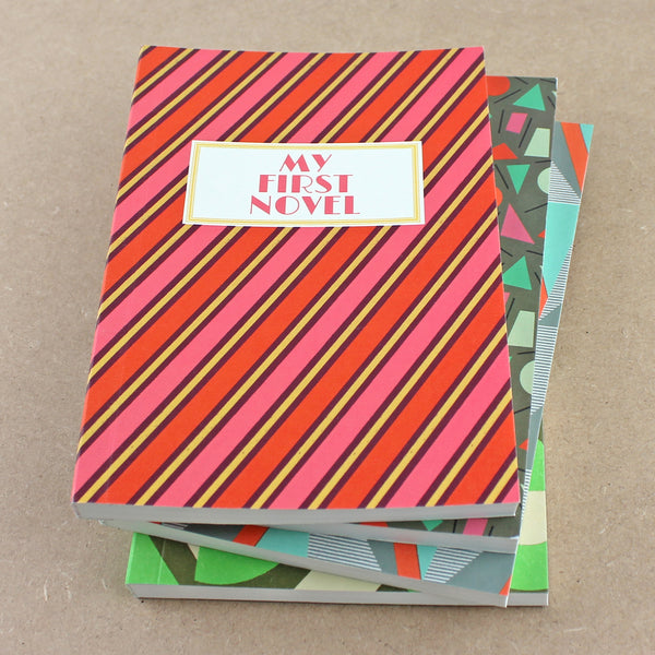 My First Novel Notebook SUK036 (Stripes)- Pack of 4 - Sukie Wholesale