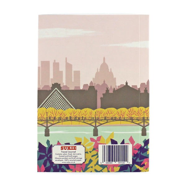 Travel Journal 'Paris' - Pack of 4 - Sukie Wholesale