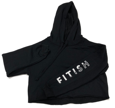 FITISH WOMEN'S CROP HOODIE SLEEVE PRINT - The Fitish
