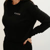 CROPPED CREWNECK FLEECE SWEATSHIRT