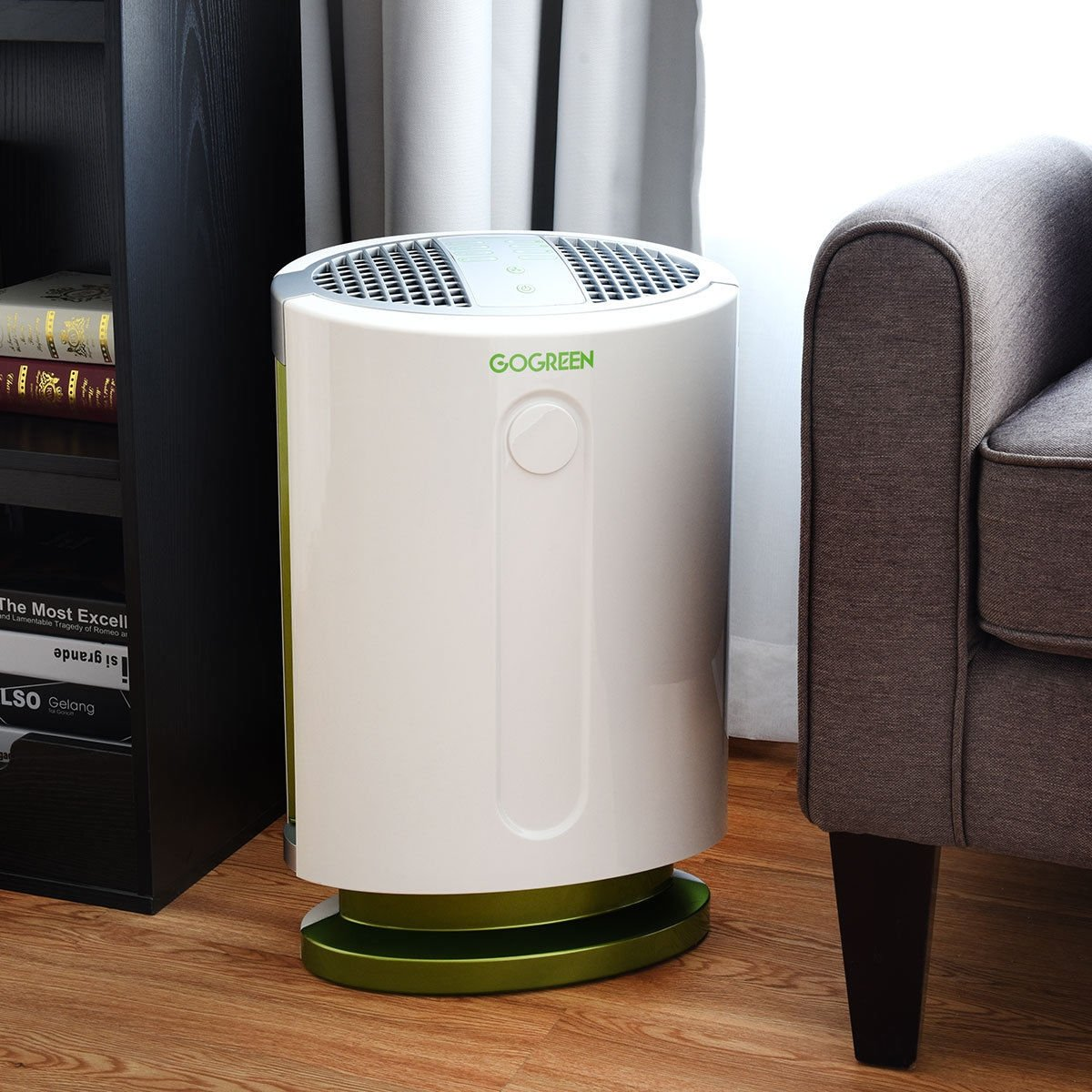 3-in-1 HEPA Filter Particle Allergies Eliminator Air Purifier