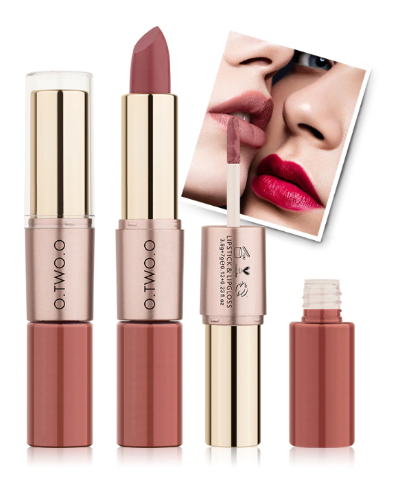 Amazing Velvety-Matte 4 Lipsticks - Combo Pack, Latest Shades, Popular Colors 2-In-1 Lip Gloss Matte Lipstick