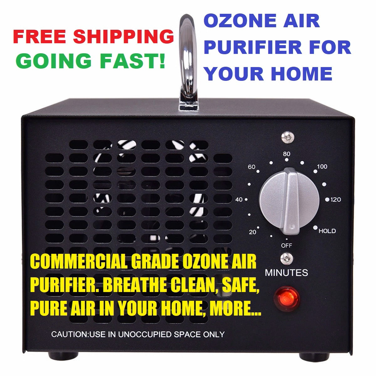 5000 mg-h Commercial Industrial Ozone Generator Air Purifier