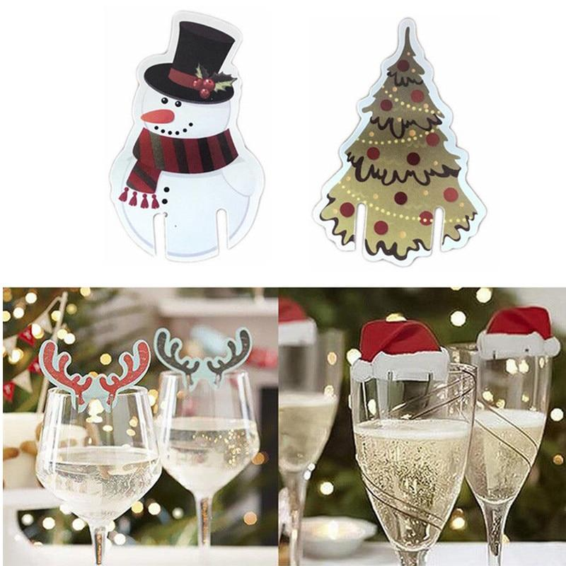 Santa Hat Wine Glass Decoration