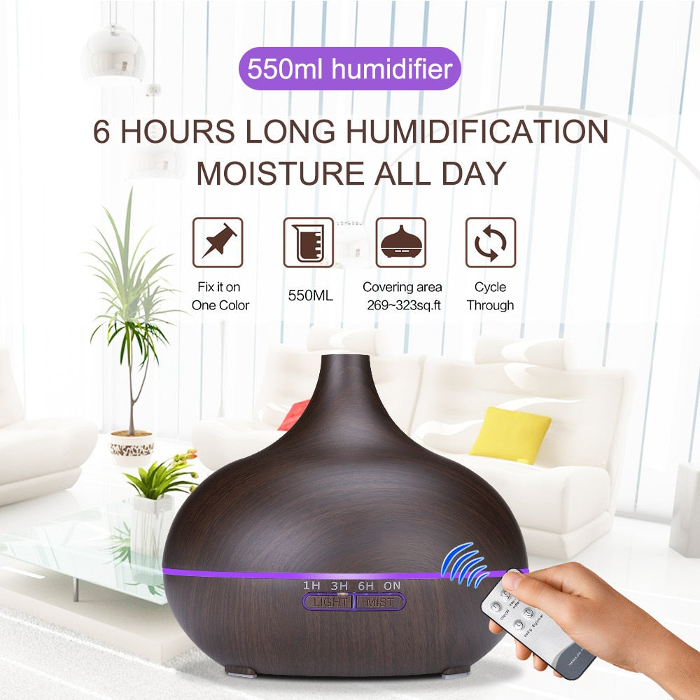 Aroma Air Humidifier LED Lamp