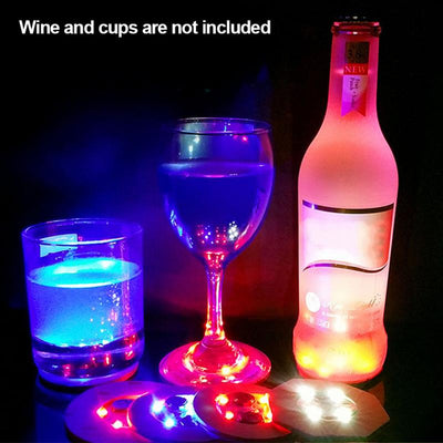 LED Coasters Bottle Glass Cups Decoration Lights Stickers