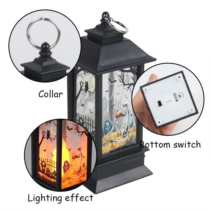 Hanging Decor LED Light Glowing Tombstone
