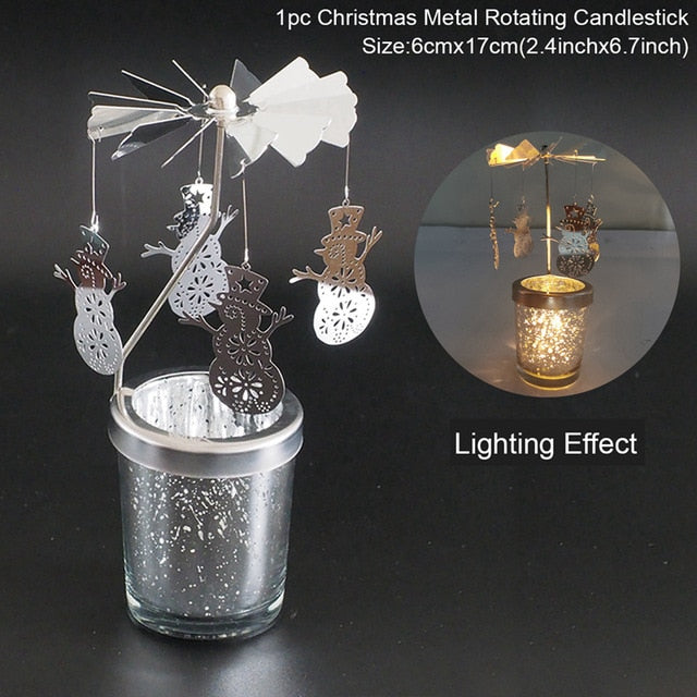 Christmas Lron Hollow Candle Holder