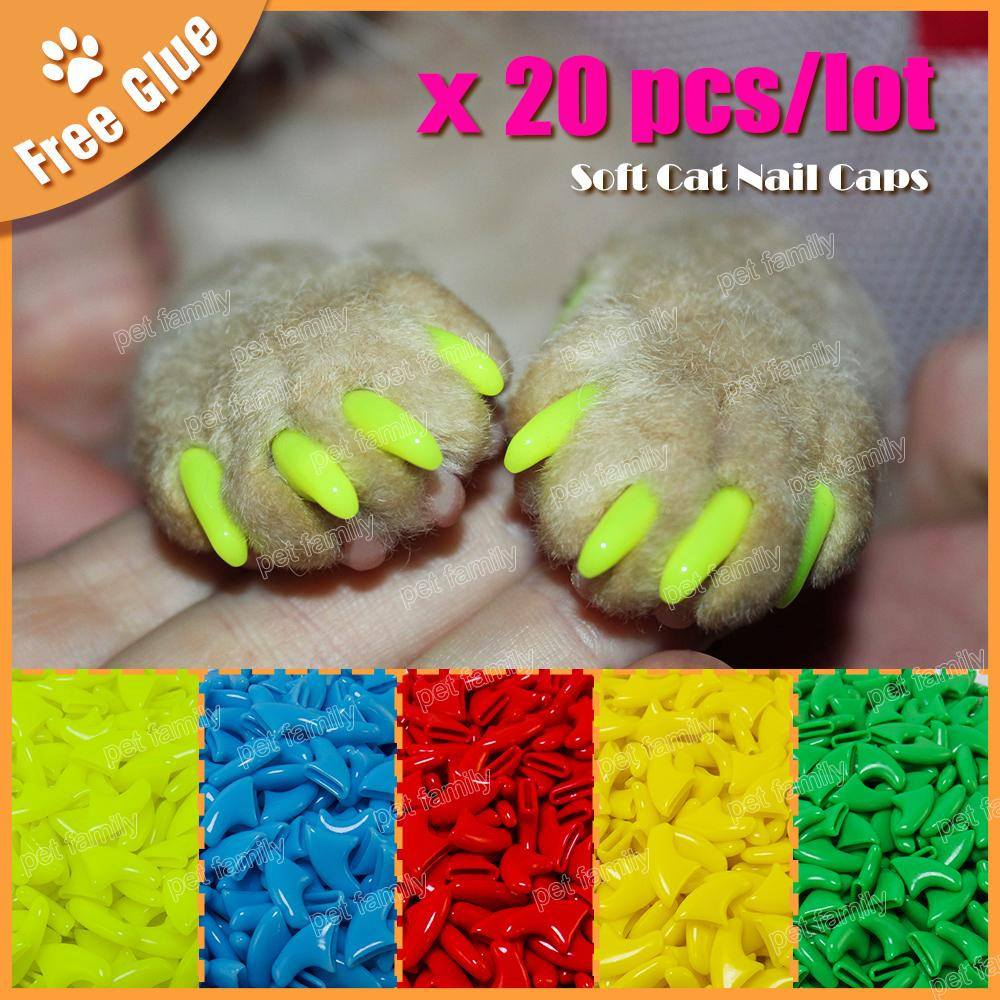 Soft Claws ( 20 Pieces + Free Glue )