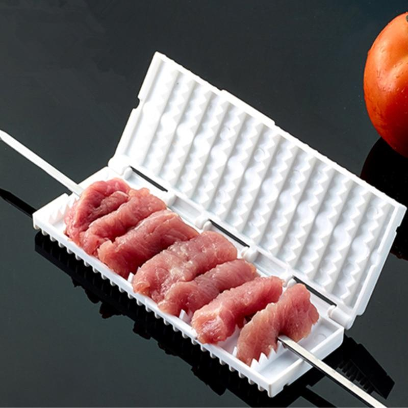 Multi-functional Skewer BBQ Grill Needle With Box Safety