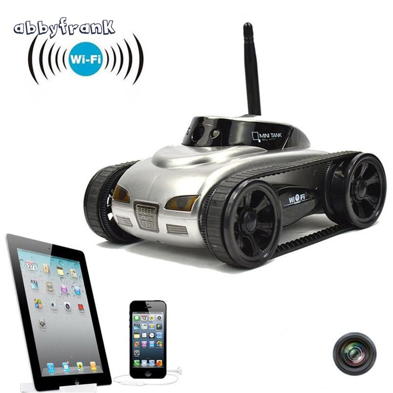 Abbyfrank RC Mini Tank Car IOS Phone Remote Control 777-270 Wifi Spy Tanks Shoot Robot With 0.3MP Camera Toys For Children Adult