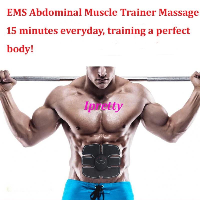 Abdominal Muscle Trainer body Massage ABS Electric slimming massage Training six pads effective thin loss weight belly massager