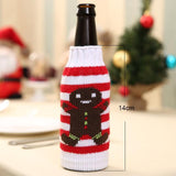 Santa Claus Snowman Deer Bottle Cover