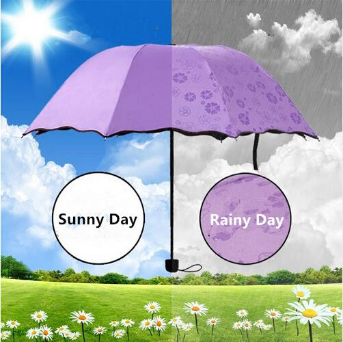 Purple Flower Color Changing Umbrella